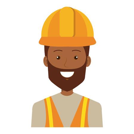 Trabajador de la construcción carácter de avatar diseño de ilustración vectorial. Foto de archivo - 77103733