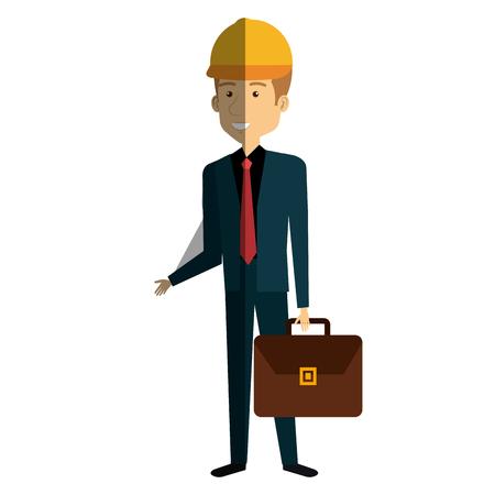 Construction workman avatar character vector illustration design.