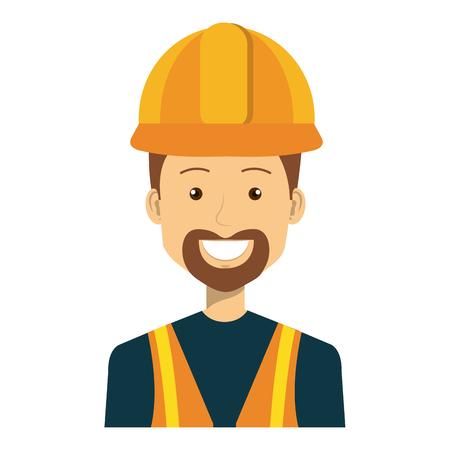 Trabajador de la construcción avatar carácter de ilustración vectorial de diseño Foto de archivo - 77104692