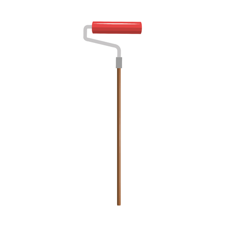 Roller construction tool isolated icon vector illustration design.
