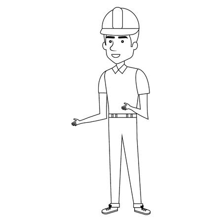 Trabajador de la construcción carácter de avatar diseño de ilustración vectorial. Foto de archivo - 77104058