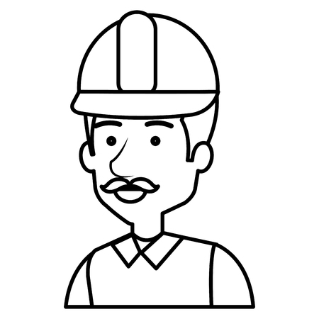 construction workman avatar character vector illustration design