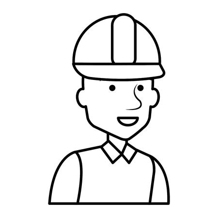 Diseñador de la construcción avatar carácter ilustración vectorial diseño Foto de archivo - 77102801