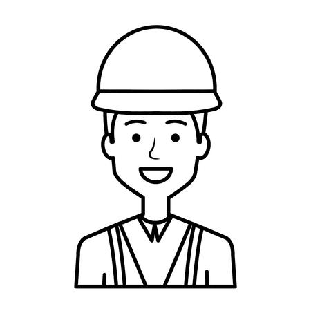 Trabajador de la construcción avatar carácter de ilustración vectorial de diseño Foto de archivo - 77102809