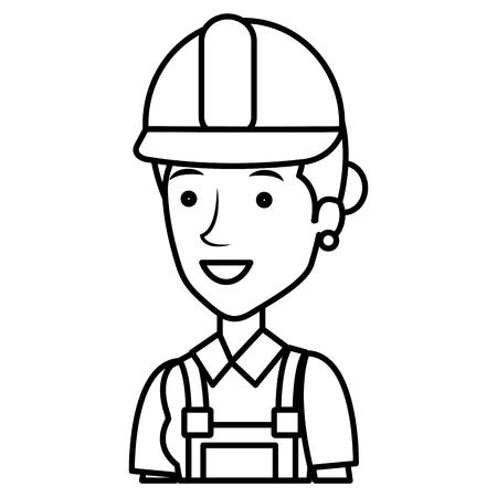 Construcción trabajador avatar carácter ilustración vectorial de diseño Foto de archivo - 77102808