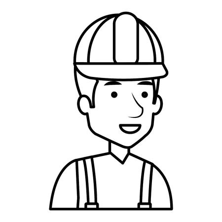 Trabajador de la construcción avatar carácter de ilustración vectorial de diseño Foto de archivo - 77102854