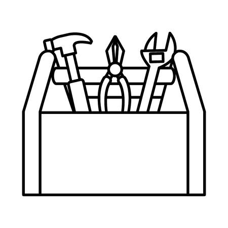 ツール ボックス構造分離ツール アイコン ベクトル イラスト デザイン  イラスト・ベクター素材