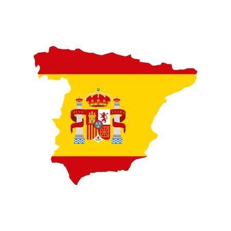 klassische Ikone der Karte des spanischen Kulturvektor-Illustrationsdesigns