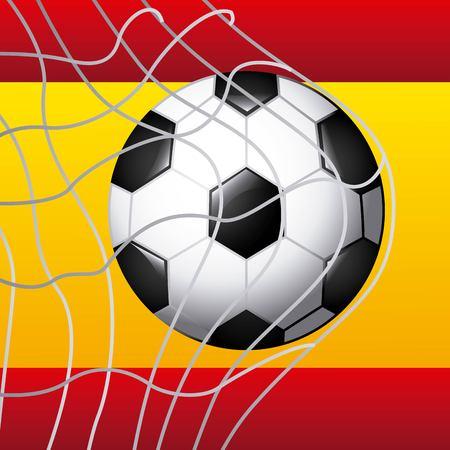 spain soccer classic icons of Spanish culture vector illustration design Illustration