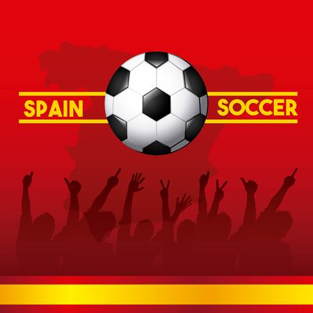 spain soccer classic icons of Spanish culture vector illustration design Illustration