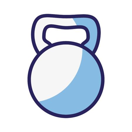 dumbbell icon over white background. vector illustration
