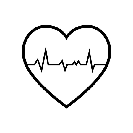 pulsating: cardio heart icon over white background. vector illustration