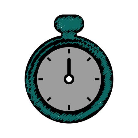 chronometer device icon over white background. vector illustration