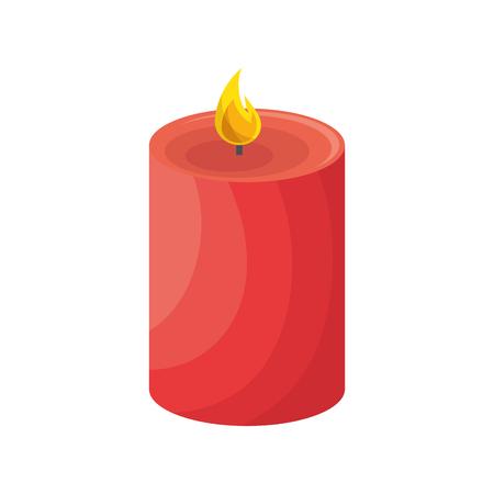 candle icon over white background. vector illustraition Illustration