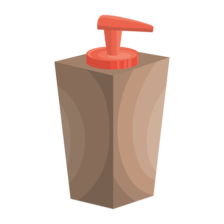 hand soap container icon over white background. spa center concept. colorful design. vector illustration