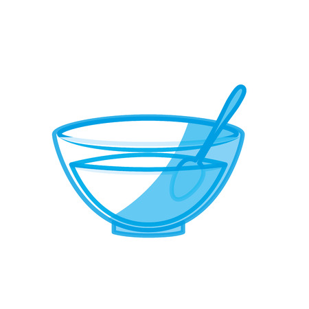 bowl with facial mask icon over white background. vector illustration Illustration