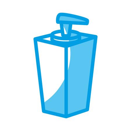 handsoap bottle icon over white background. vector illustration