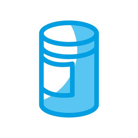 body lotion bottle icon over white background. vector illustration