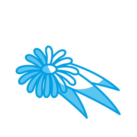 flower icon over white background. vector illustration