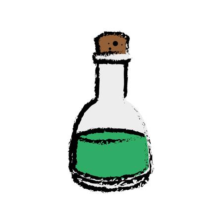 oil bottle icon over white background. vector illustration