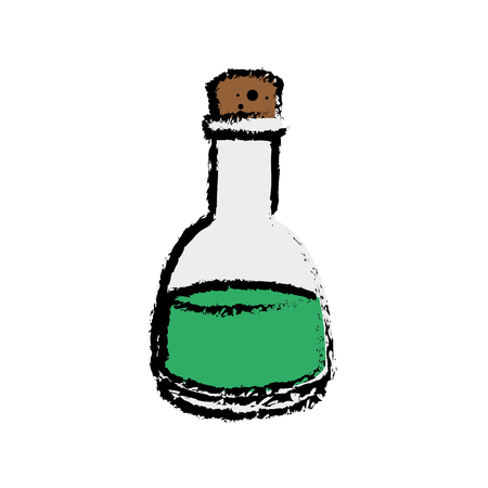 oil bottle icon over white background. vector illustration
