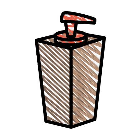 handsoap bottle icon over white background. vector illustration Stock Vector - 77195292