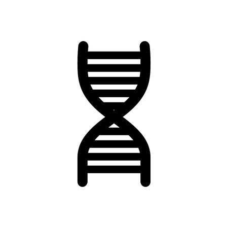 Medical chain symbol of dna icon over white background. vector illustration Illustration
