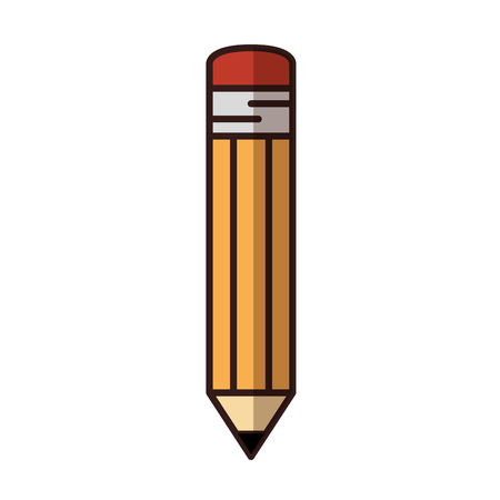 pencil icon over white background. vector illustration Stok Fotoğraf - 77195358
