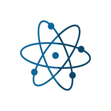 Icône de l'atome sur fond blanc. illustration vectorielle Banque d'images - 77195597