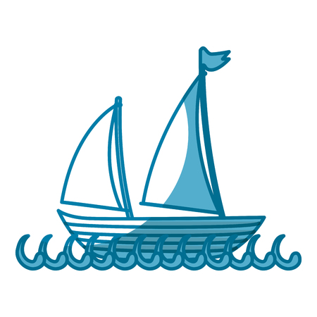 sailboat icon over white background. vector illustration Фото со стока - 77196174