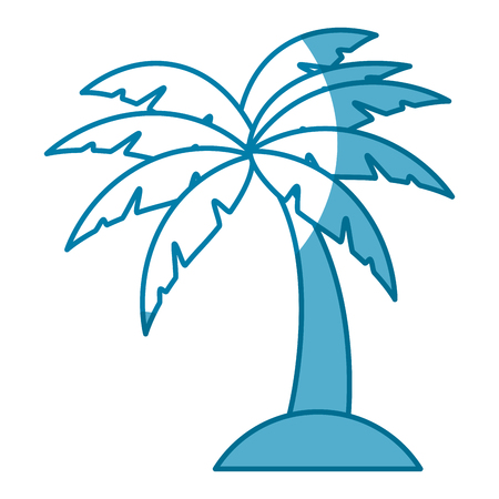 tropical palm icon over white background. vector illustration Stock Vector - 77196176