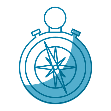 compass device icon over white background. vector illustration
