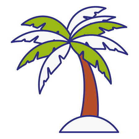 tropical palm icon over white background. vector illustration Stock Vector - 77196403