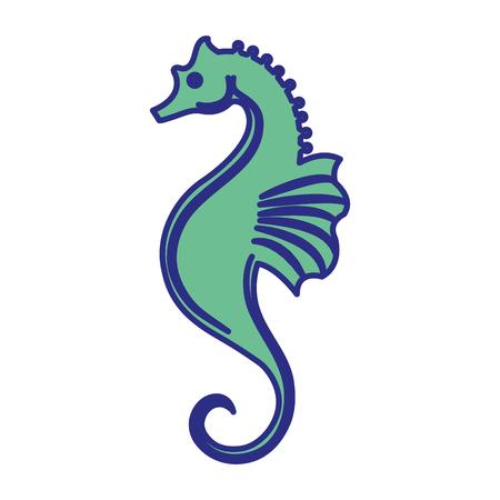 seahorse icon over white background. vector illustration Illustration