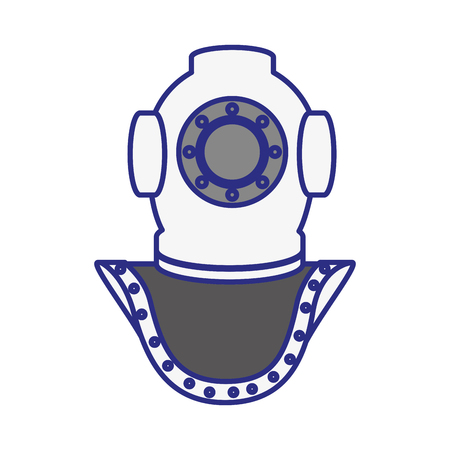 stability: old scuba mask icon over white background. vector illustration