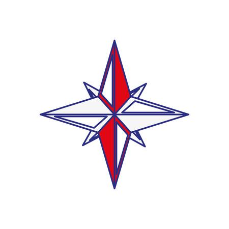 白い背景の上ナビゲーションの星のアイコン。ベクトル図  イラスト・ベクター素材