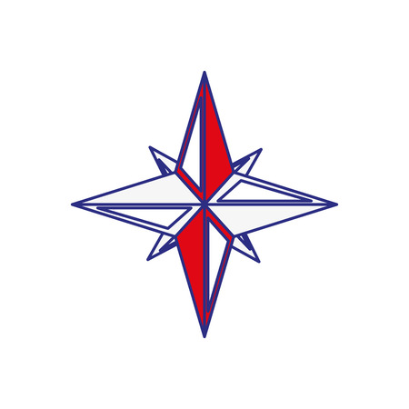 navigation star icon over white background. vector illustration Ilustrace