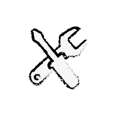 repair tools icon over white background. vector illustration 版權商用圖片 - 77217887