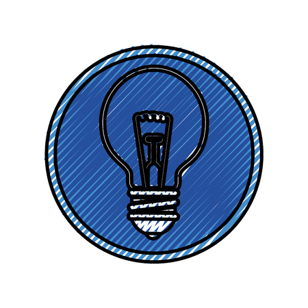 bulb light icon over white background. vector illustration Иллюстрация