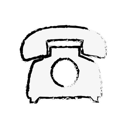 vintage telephone: telephone icon over white background. vector illustration Illustration