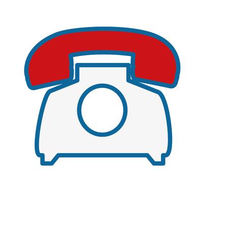 retro phone icon over white background. vector illustration