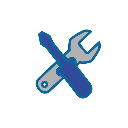 repair tools icon over white background. vector illustration