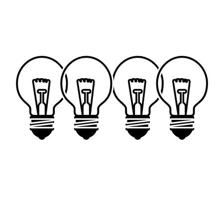 bollen lichten pictogram op witte achtergrond. vectorillustratie