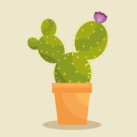 Cactus plant botany icon vector illustration design Stok Fotoğraf - 77250524