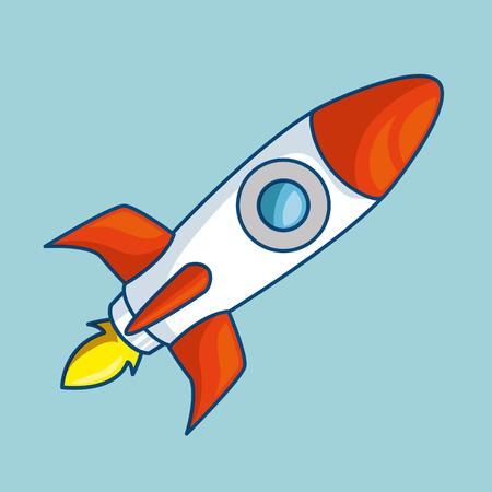 Rocket start-up isolated icon vector illustration design