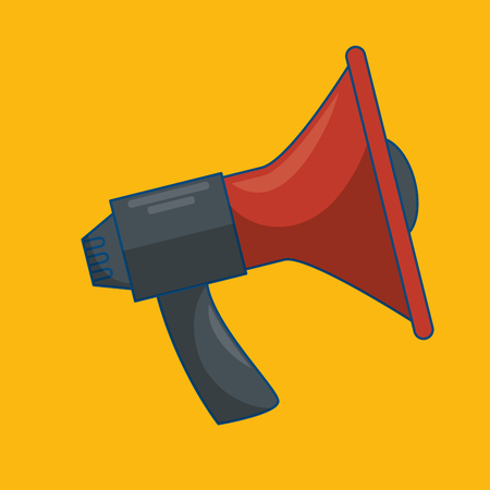 Megaphone sound isolated icon vector illustration design Illustration