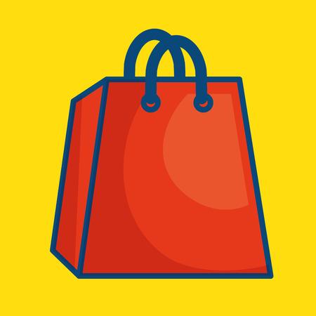 Shopping bag paper icon vector illustration design