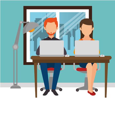 Teamwork Mensen verzameld in het kantoor vector illustratie ontwerp Stockfoto - 77277368