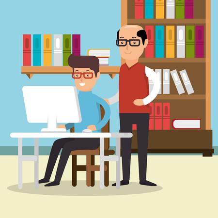 Teamwork Mensen verzameld in het kantoor vector illustratie ontwerp Stockfoto - 77277443