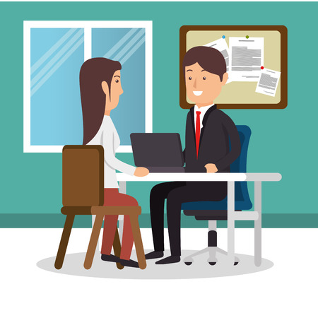 teamwork People gathered in the office vector illustration design Imagens - 77278092